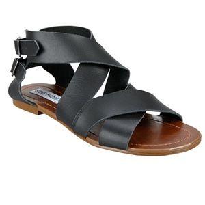 Steve Madden Achilles Black Sandals 9